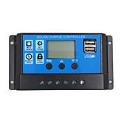 Regulador solar de la carga de la batería del panel solar 24v 12v regulador del colector solar de la exhibición del lcd del pwm 30a con la