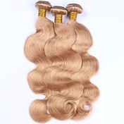 Precolored Tejidos de pelo Cabello Peruano Ondulado Grande 12 meses 3 Piezas los tejidos de pelo