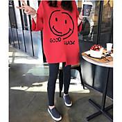 レディース カジュアル/普段着 夏 Tシャツ,シンプル ラウンドネック レタード コットン ハーフスリーブ