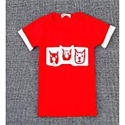 Pige T-shirt Andre Farveblok,Andet Efterår Kortærmet