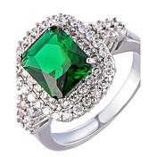 Žene Obilježja prstena Klasično prstenje Prsten Kubični Zirconia Umjetno drago kamenjeOsnovni dizajn Jedinstven dizajn Rhinestones