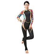 HISEA® Mujer 1mm Trajes térmicos Dive Skins Traje de neopreno completo A prueba de radiaciones Nylón Neopreno LYCRA® Traje de buceoManga
