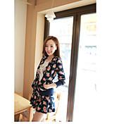 Mujer Tallas pequeñas Activewear Casual Casual Floral Bordado Forro Extraíble strenchy Algodón Manga Larga Primavera
