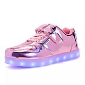 Chico Chica Zapatos Cuero Patentado Primavera Verano Otoño Invierno Confort Innovador Zapatos con luz Zapatillas de deporte Fruncido Para