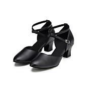 Mujer Moderno Cuero Tacones Altos Profesional Cruz Tacón Cuadrado Negro 2'5-4'5cms 5-7cms Personalizables