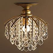 Lámpara de cristal simple de estilo europeo con sencilla lámpara de araña de cristal dormitorio único y barra de pasillo