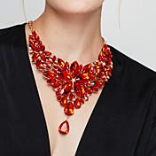 Mujer Collares Declaración Collares Babero Forma de Flor Gema Resina Moda Europeo Joyería de Lujo Elegant joyería de disfraz Joyas Para