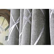 Ventana Tratamiento Moderno / Contemporáneo , A Rayas Sala de estar Material Blackout cortinas cortinas Decoración hogareña For Ventana