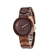 男性用 女性用 腕時計 ウッド 日本産 クォーツ 木製 ウッド バンド 創造的 ラグジュアリー エレガント腕時計 ブラック