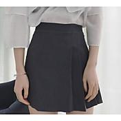 Mujer Noche Sobre la Rodilla Faldas,Lápices Verano Un Color