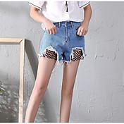 Mujer Sexy Tiro Alto Microelástico Chinos Shorts Pantalones,Delgado Un Color