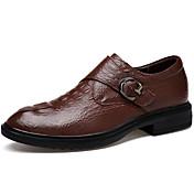 Hombre Zapatos Cuero real Cuero de Napa Cuero Primavera Otoño Confort Suelas con luz Zapatos formales Zapatos De Buceo Oxfords Con Cordón