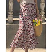 Mujer Vacaciones Maxi Faldas,Columpio Verano Estampado