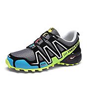 Hombre Zapatillas de Atletismo Suelas con luz Tul Semicuero Primavera Verano Deportivo Fitness Con Cordón Tacón Plano Negro Gris Plano