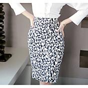 Mujer Noche Sobre la Rodilla Faldas,Corte Bodycon Verano Bloque de Color