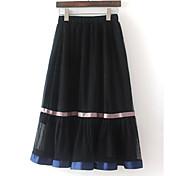 Mujer Playa Midi Faldas,Columpio Verano Bloque de Color
