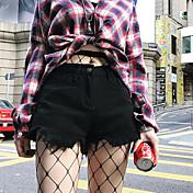 Ženske Ravan kroj Jednostavan Visoki struk Neelastičan Kratke hlače Hlače Jednobojni