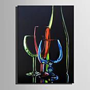 Pintada a mano Naturaleza muerta Vertical,Abstracto Un Panel Lienzos Pintura al óleo pintada a colgar For Decoración hogareña