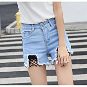Mujer Sexy Tiro Alto Microelástico Chinos Pantalones,Delgado Un Color