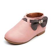 女の子 靴 レザーレット 春 秋 コンフォートシューズ ブーツ 用途 カジュアル ベージュ グレー ピンク