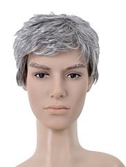 nadolijevanja kratka sive ravne kose perika