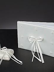 ホワイトリボン☆結婚式芳名帳とペンセット