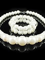 豪華な人造真珠♥ジュエリーセット(ネックレス、ブレスレット)