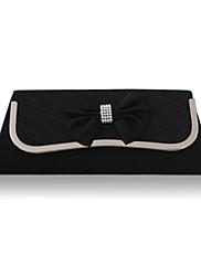hedvábí s křišťálově / drahokamu / bowknot večerních kabelek více barev k dispozici