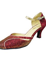Dámské - Taneční boty - Moderní / Taneční sál - Taft - Jehlový podpatek - Červená