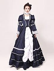 ワンピース/ドレス ゴスロリータ プリンセス コスプレ ロリータドレス パッチワーク カラーブロック 長袖 ロング丈 ドレス のために ジャズウール