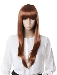 Capless High Quality Synthetic Brown Long Wave Hair Wig