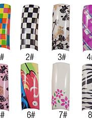 70個フルカバーロマンチックなフランスアクリル爪のヒント8色をご用意