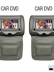 テレビ付きの7インチヘッドレストDVDプレーヤー、ゲーム(1ペア)
