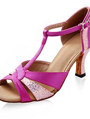 satén / třpytky šumivé horní latin dance boty sál boty pro ženy více barev