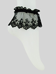 čarape Gothic Lolita See Through Crn Lolita Pribor Stockings Čipka Za Žene Pamuk