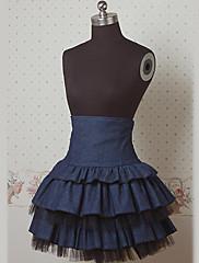 kolena dark navy dort námořnickém stylu lolita sukně