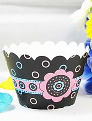 美しい花のカップケーキラッパー(12個セット)