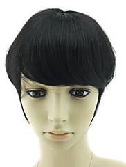 100% lidské vlasy rovné straně bang