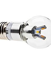 E27 3w 6x5630 smd 240-270lm 3000-3500K teplá bílá světla vedl míč žárovka (85-265V)