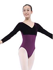 dancewear bavlna / spandex balet samet dlouhý rukáv trikot pro dámy