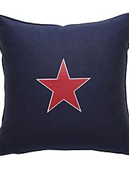 červená hvězda plátno dekorativní polštář