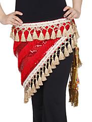 dancewear samet s flitry / střapci představení břišního tance hip šátek pro dámy více barev