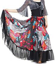 dancewear šifón s břišním tisku výkonu sukně pro dámy