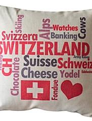 チーズチョコレートコットン/リネン装飾枕カバー