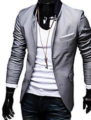 メンズ安いピュアカラーレジャースーツトップ(分類された色とサイズ)