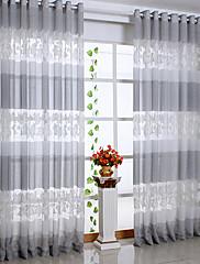 země, dva panely list šedá obývací pokoj polyester naprostý záclony odstíny