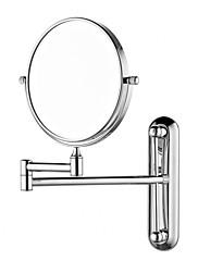 Okrugli 8-inčni masivni mesing zid podesiva kozmetičko ogledalo krom finiširanje
