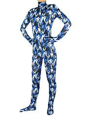 modrá kamufláž spandex lycra celého těla Zentai