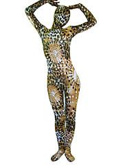 hnědá a černá a bílá stoupání spandex lycra celého těla Zentai