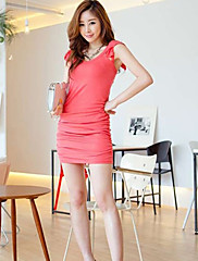 dámské skládaný bodycon šaty (slim fit)